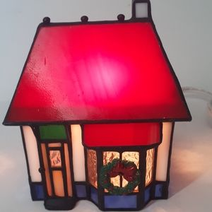 Vintage Stained Glass Smoke House 1995